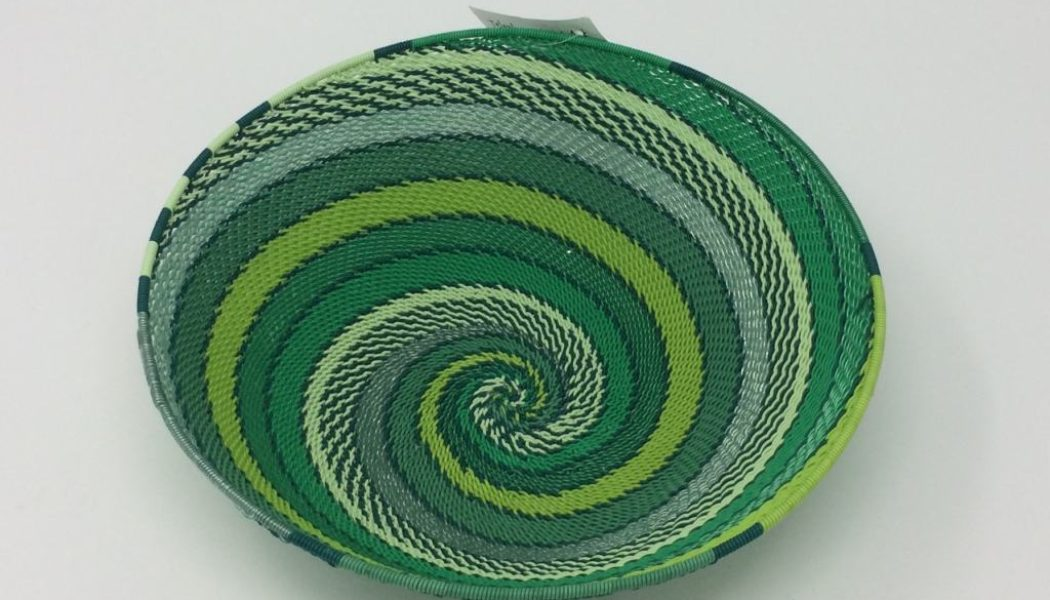 Telephone Wire Basket – Spring Greens