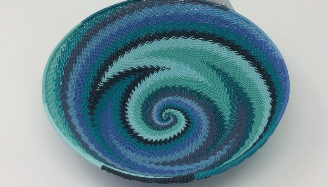 Telephone Wire Basket – Ocean Waves