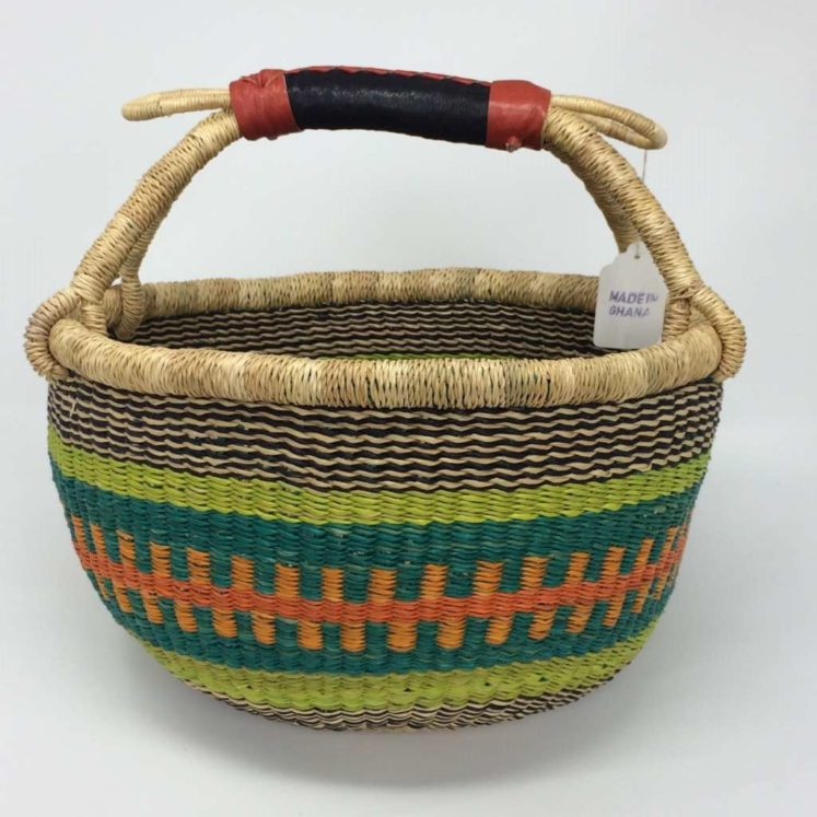 "Medium Bolga Basket 12"" (12-3)"
