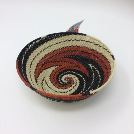 Telephone Wire Basket – Terracotta, Black and Cream