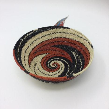 Telephone Wire Basket – Terracotta, Black and Cream