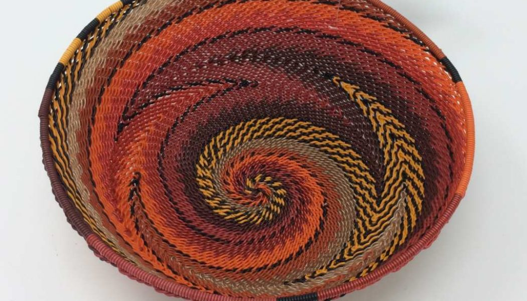 Telephone Wire Basket – Tropical Sunset
