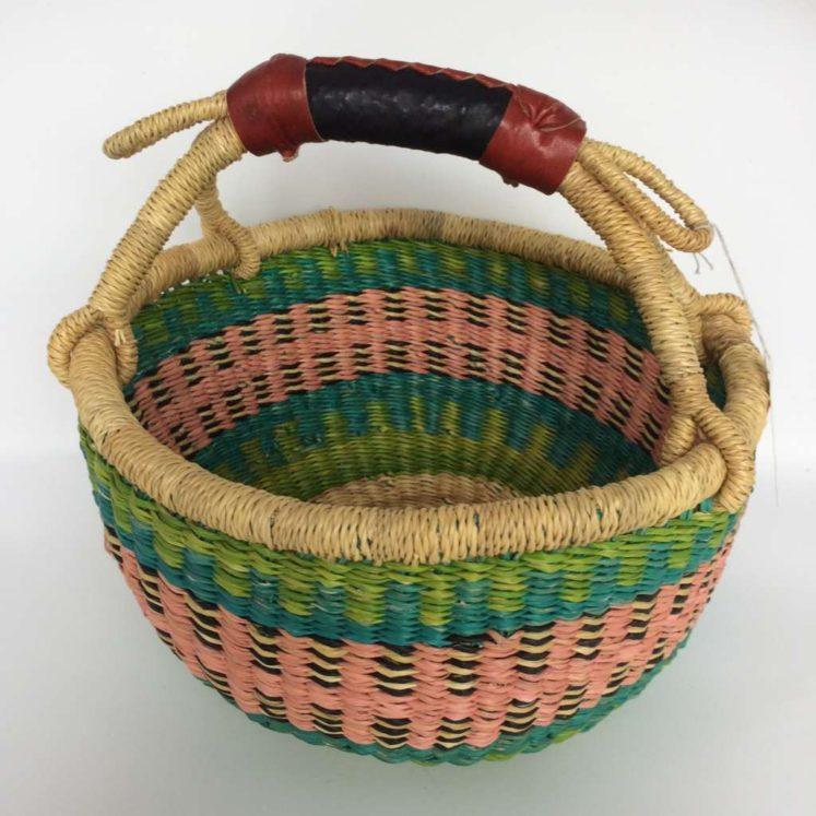 "Small Bolga Basket 10"" (10-2)"