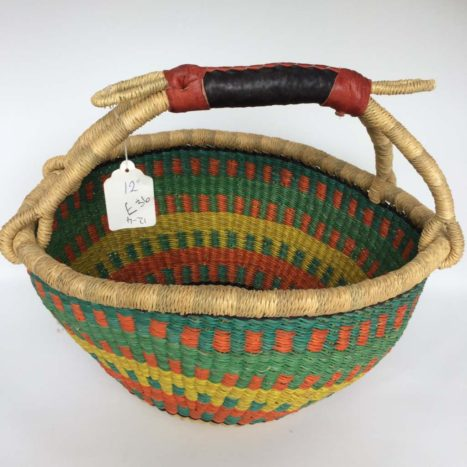 "Medium Bolga Basket 12"" (12-4)"