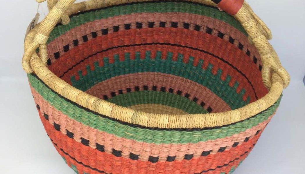 """Large Bolga Basket 14"""" (14-10)"""