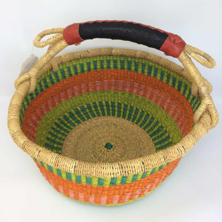 "Medium Bolga Basket 12"" (12-7)"