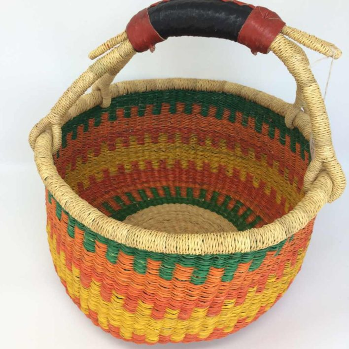 "Medium Bolga Basket 12"" (12-1)"
