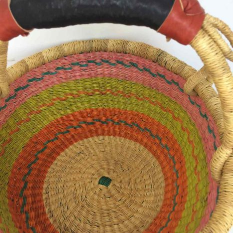 "Medium Bolga Basket 12"" (12-11)"