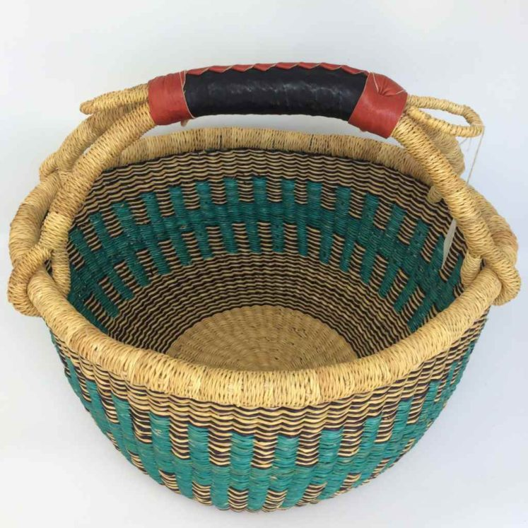 "Medium Bolga Basket 12"" (12-10)"