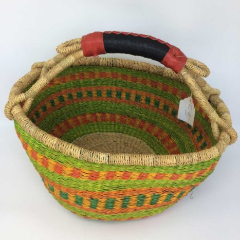 "Medium Bolga Basket 12"" (12-6)"
