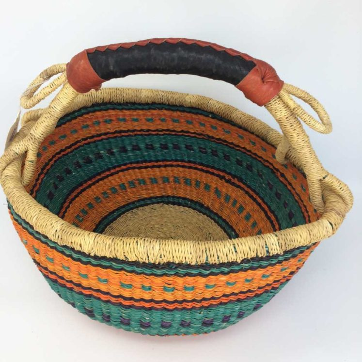 "Medium Bolga Basket 12"" (12-5)"