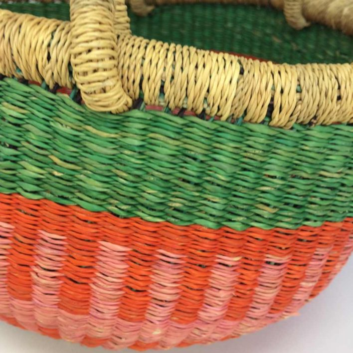 "Medium Bolga Basket 12"" (12-8)"