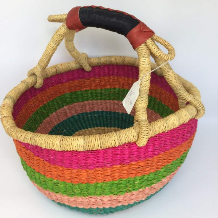 "Medium Bolga Basket 12"" (12-2)"