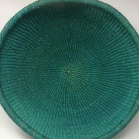 Dip Dyed Bolga Bowl Teal