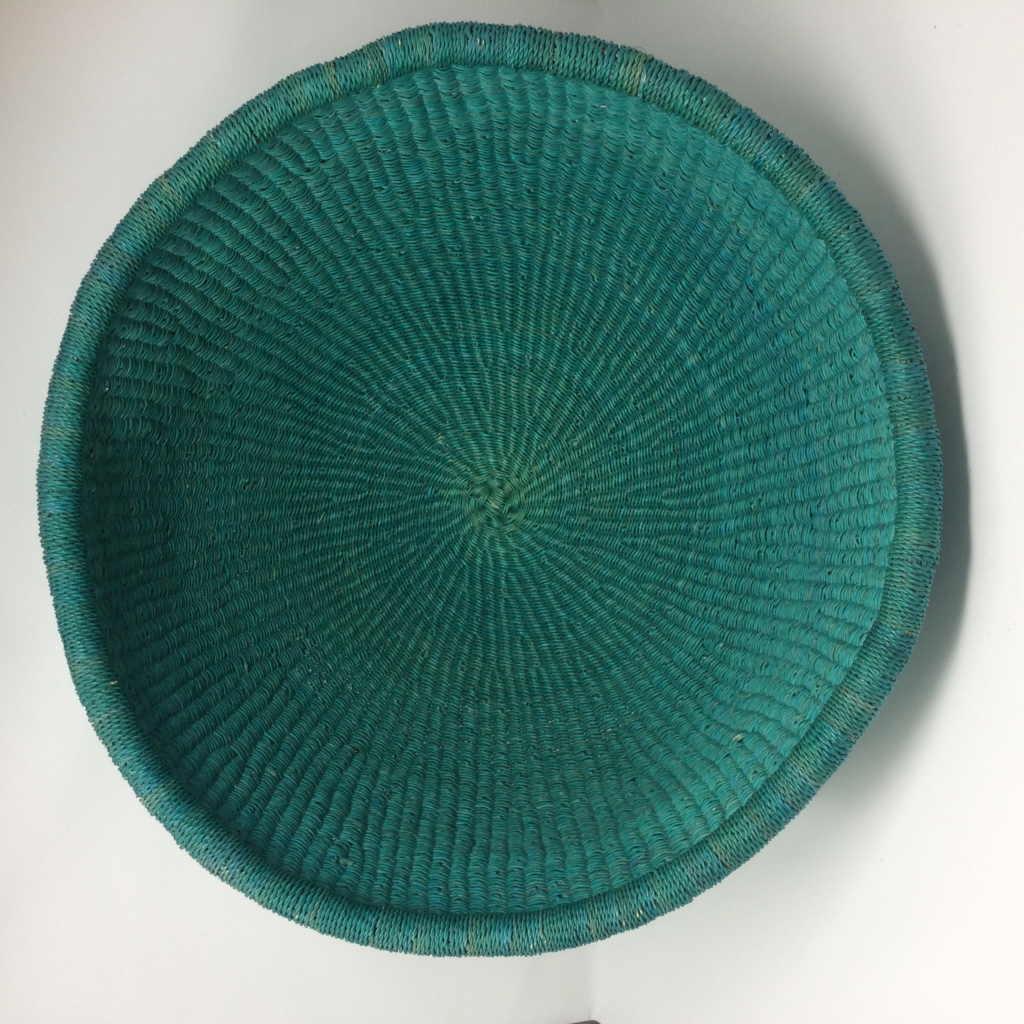 Dip Dyed Bolga Bowl Teal - Injabulo