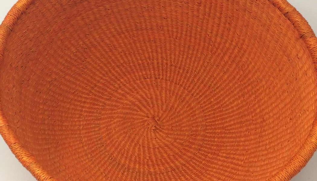 Dip Dyed Bolga Bowl Orange