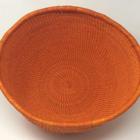 Dip Dyed Bolga Bowl Orange