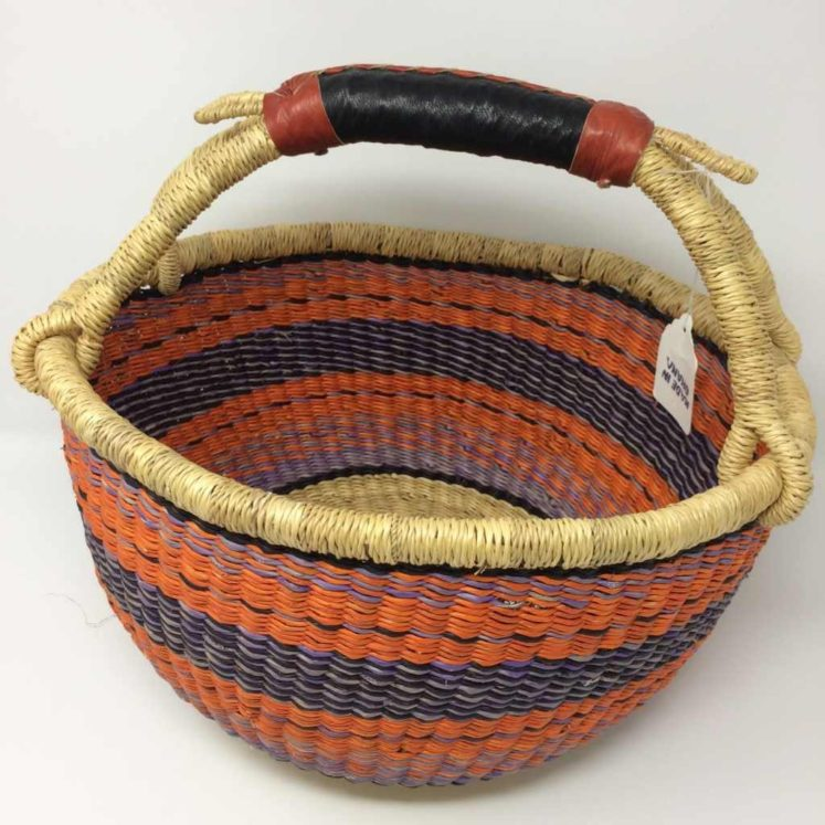 "Medium Bolga Basket 12"" (12-9)"