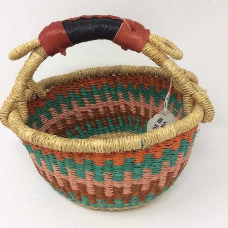 "Small Bolga Basket 8"" (8-5)"