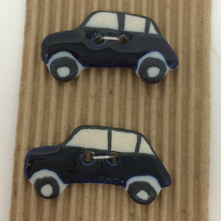 Ceramic Buttons – 5 Dark Blue Car Buttons L245