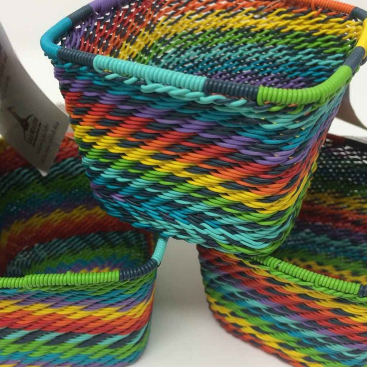Telephone Wire Basket – Rainbow Brights Square