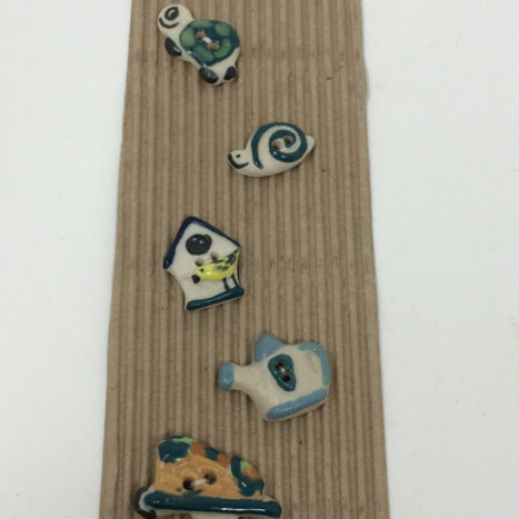 Ceramic Buttons – Garden Theme