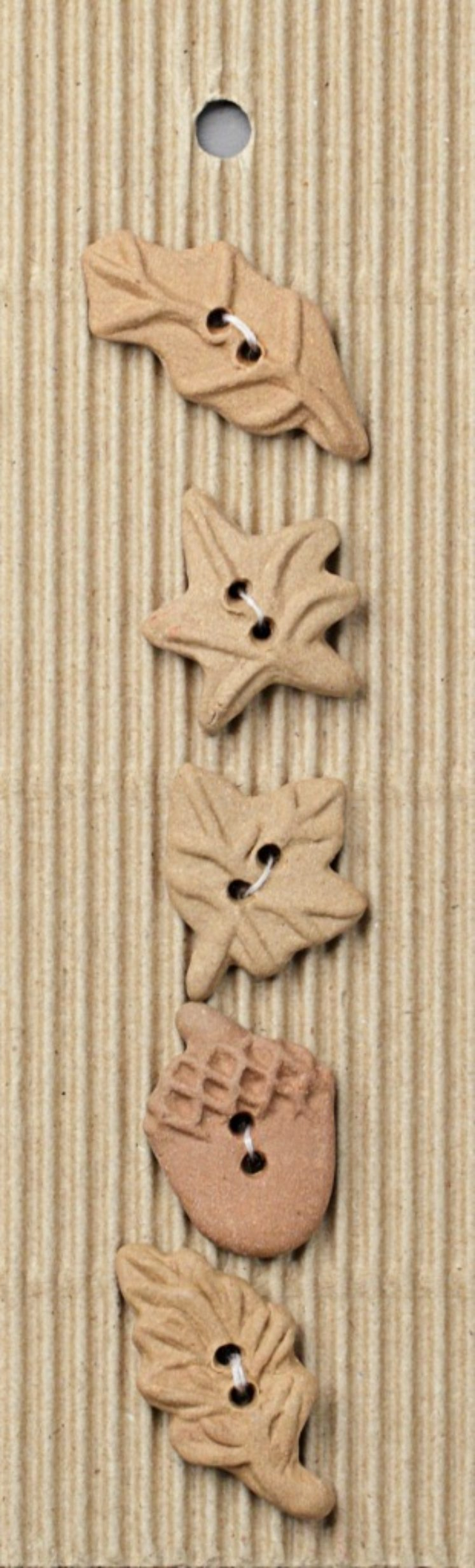 Ceramic Buttons – Leaves L106