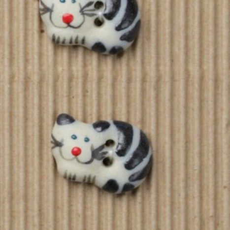 Ceramic Buttons – Black Cats L34