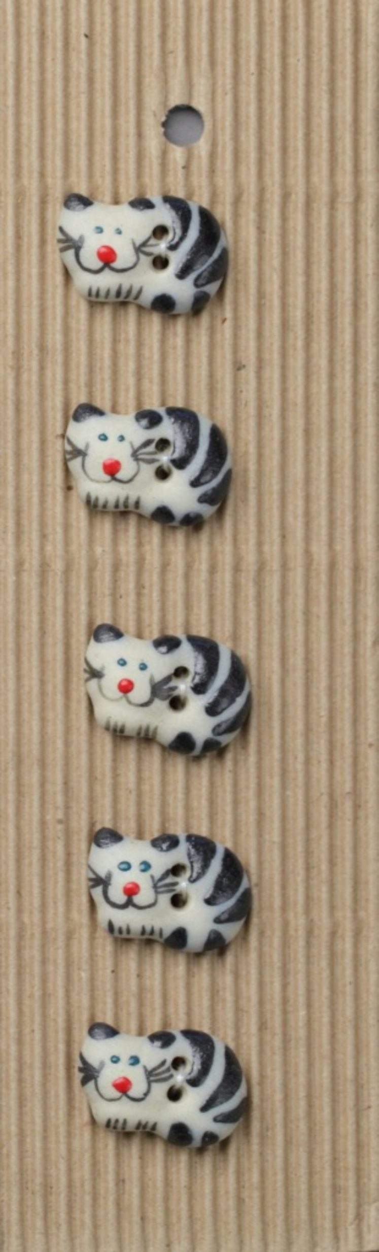 Ceramic Buttons – Black Cats L34