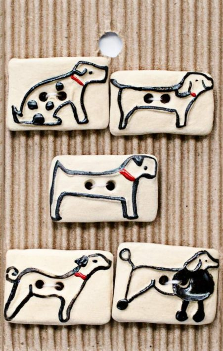 Ceramic Buttons – Dog Buttons L582