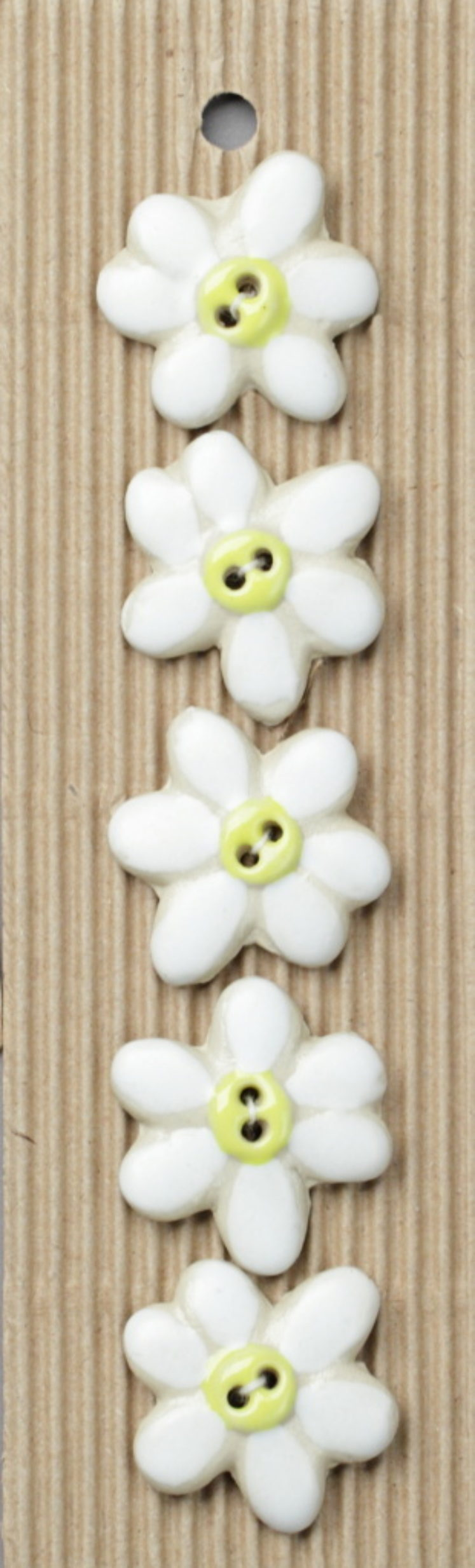 Ceramic Buttons – Daisies L89