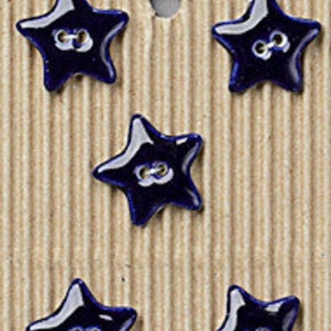 Ceramic Buttons – Navy Blue Stars L234
