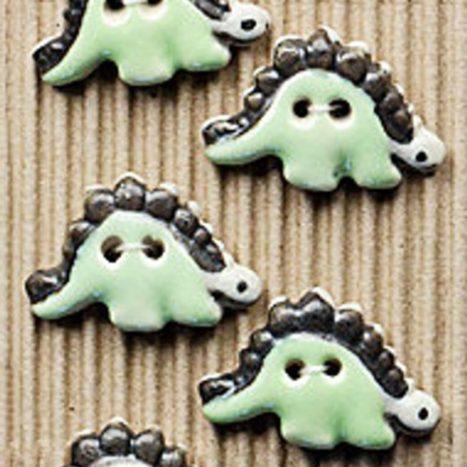 Ceramic Buttons – Dinosaur buttons L126