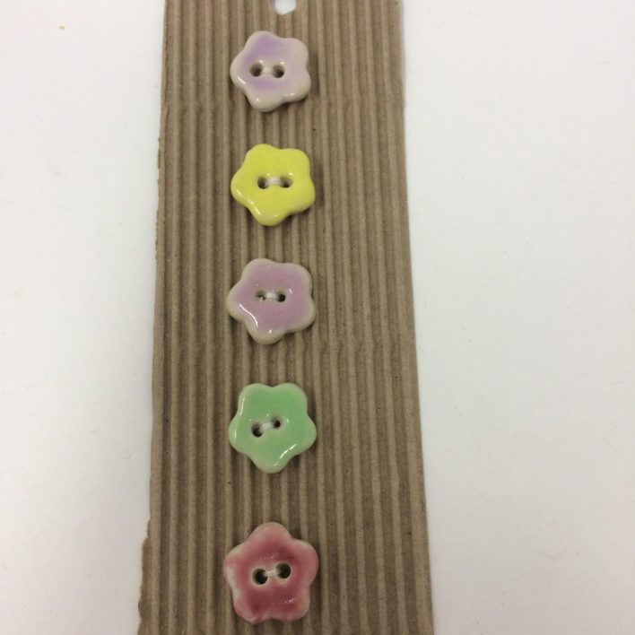 Ceramic Buttons – Tiny flower buttons