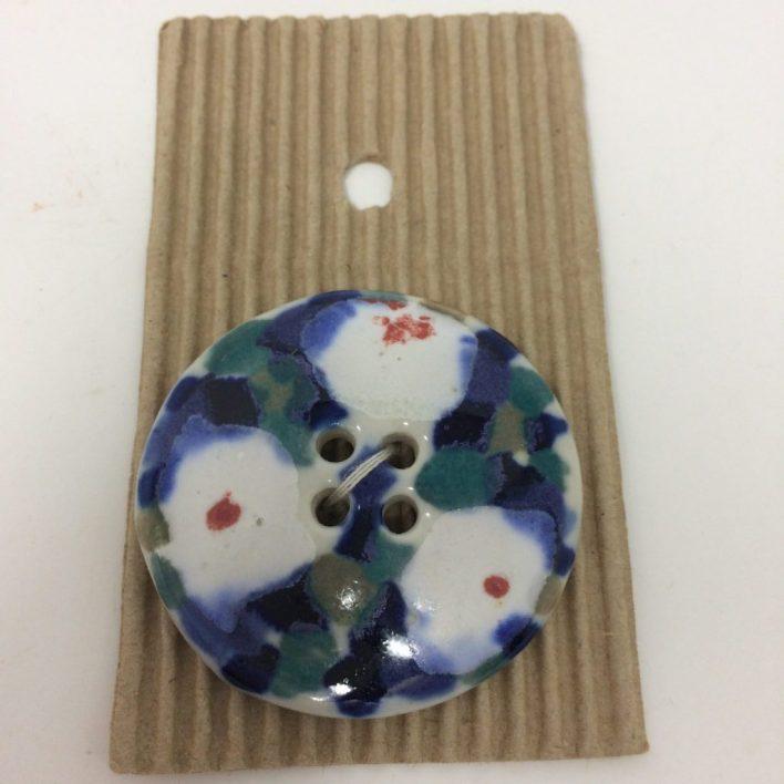 Ceramic Buttons – Large Floral