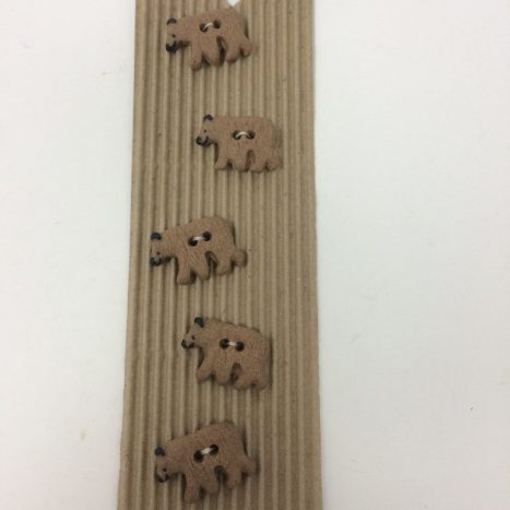 Ceramic Buttons – Brown Bears