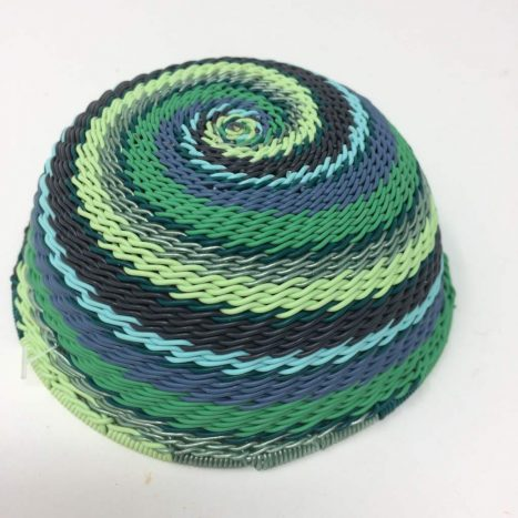 Telephone Wire Basket Winter Green