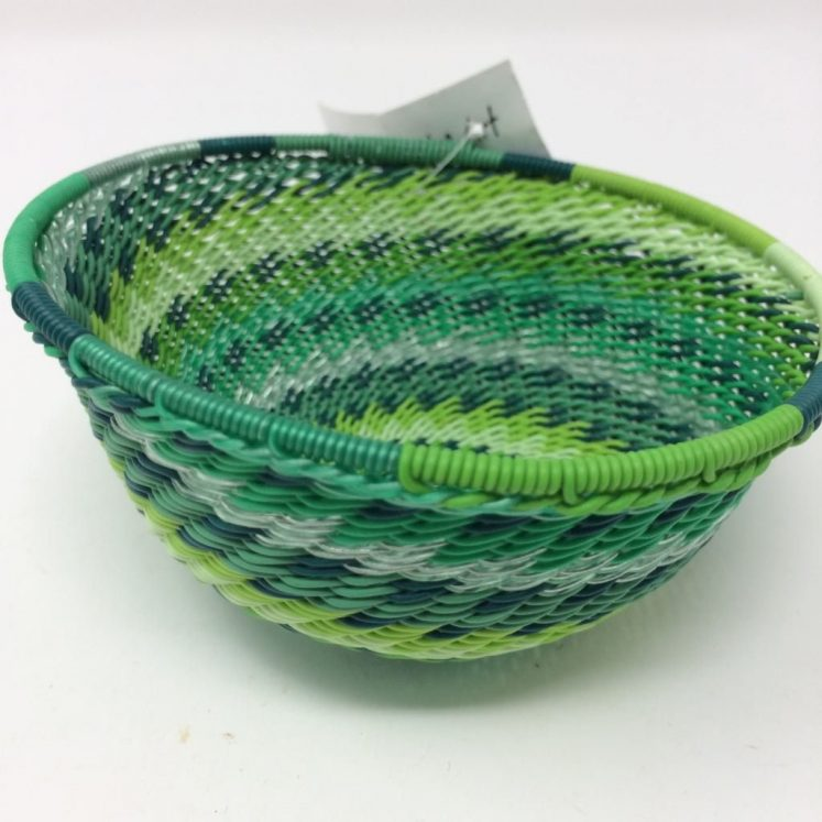 Telephone Wire Basket Spring Green