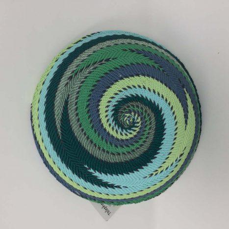Telephone Wire Basket Winter Green