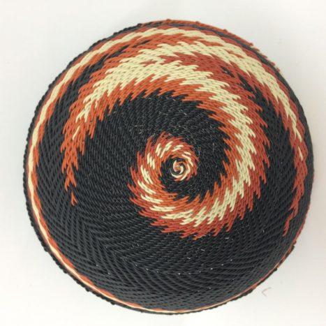 Telephone Wire Basket Terracotta, Black and Cream 2
