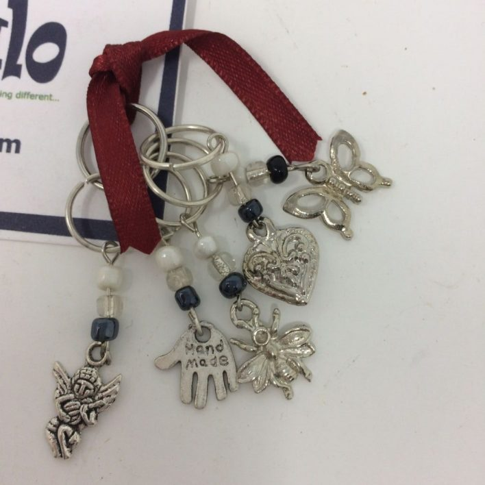 Stitchmarkers – Silver Charms