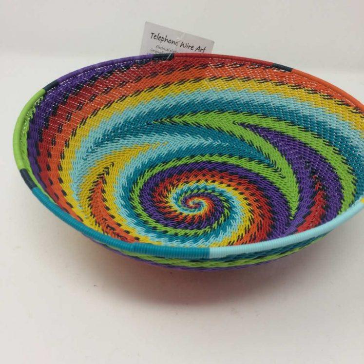 Telephone Wire Basket Rainbow 2