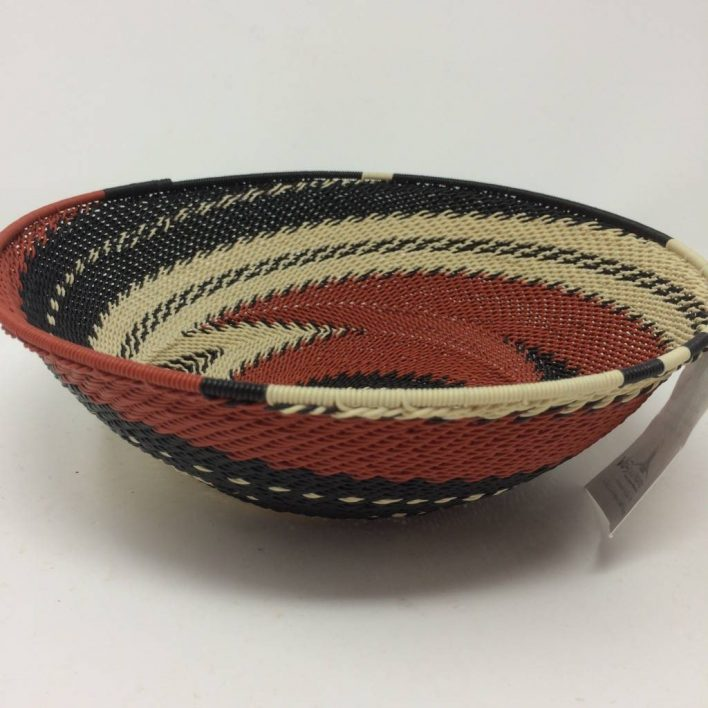Telephone Wire Basket Terracotta 2