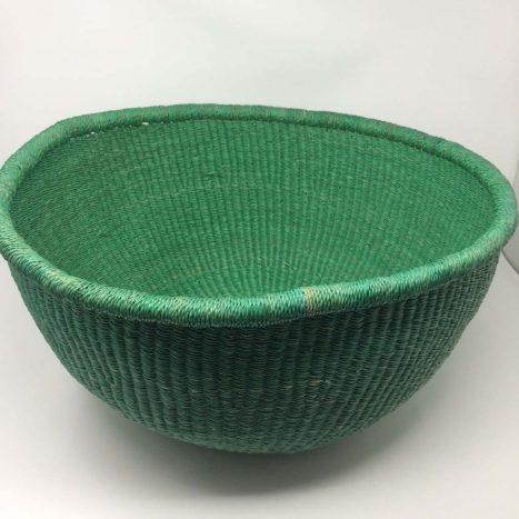 Dip Dyed Bolga Bowl Green