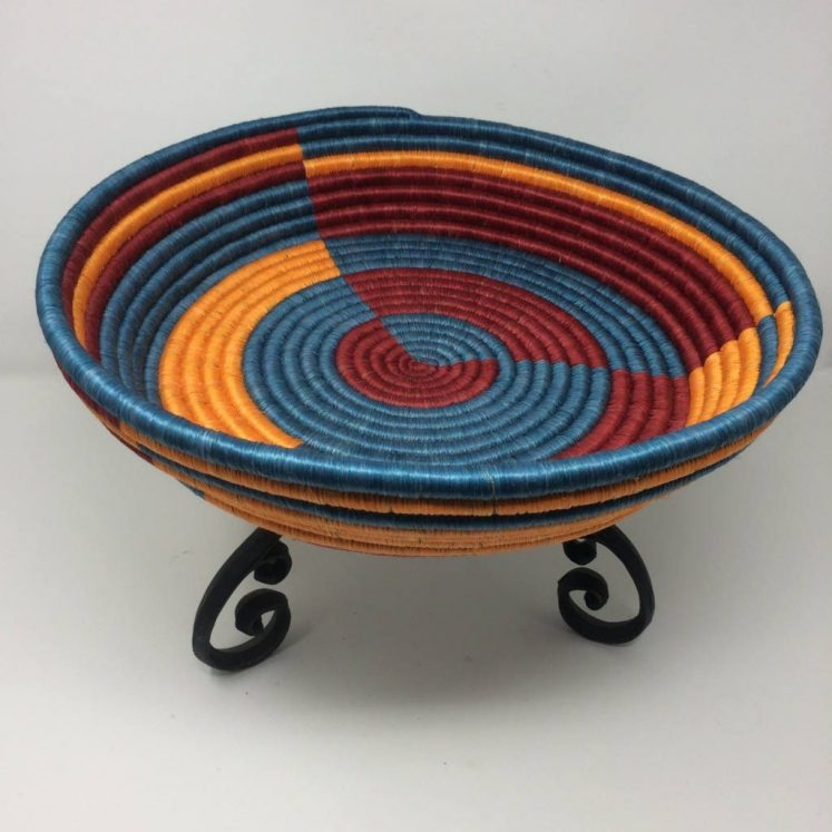 Rwandan Baskets – Large Tray Geometrics