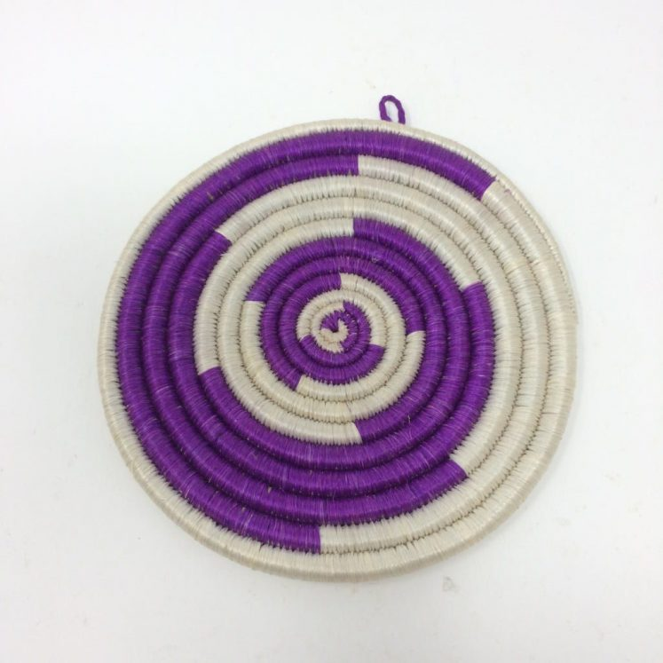 Rwandan Baskets – Small Mat Purple