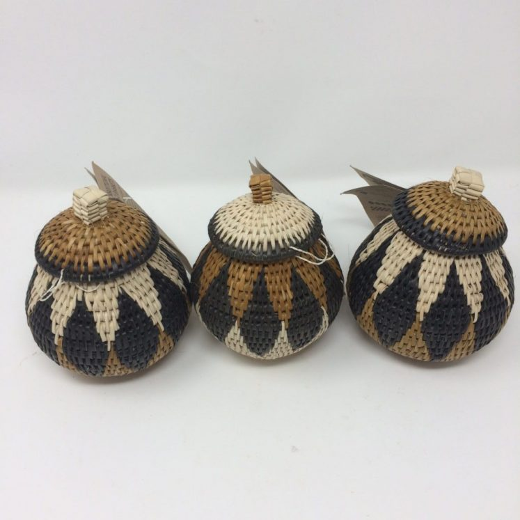 Zulu Ilala Palm Herb Baskets Set of 3