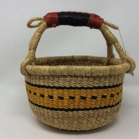 "Small Bolga Basket 8"" (8-8)"