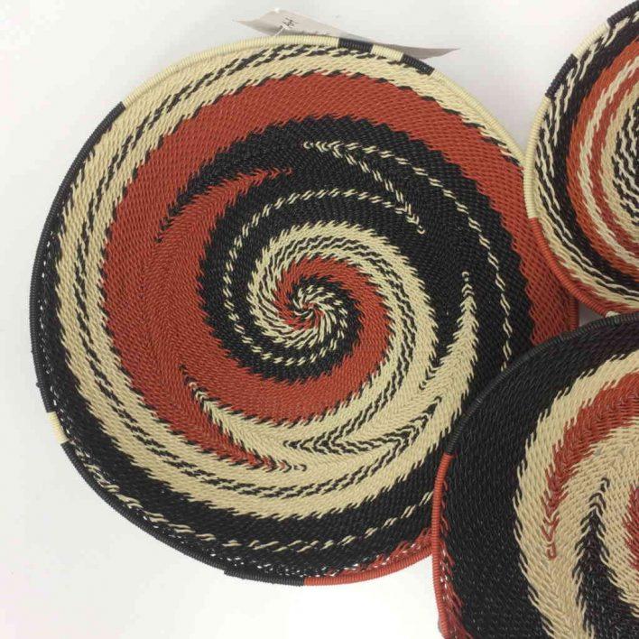 Telephone Wire Basket Set – Terracotta, Black and Cream