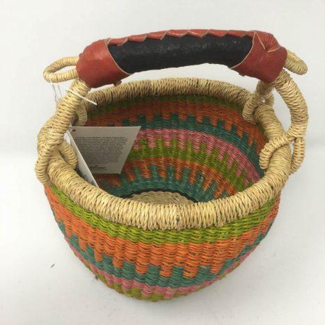 "Small Bolga Basket 8"" 98"